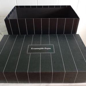 Ermenegildo Zegna Pin Strip Shoe Box